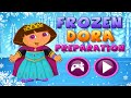 Frozen Dora Preparation - Dora The Explorer Game Episode For Children | Baby Girl Games