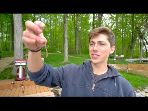 Loser Has To Eat a WORM --  Fishing Challenge