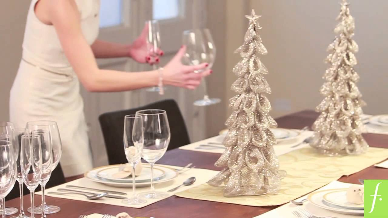 Dco blog c mo decorar la mesa navide a youtube - Decorar la mesa en navidad ...