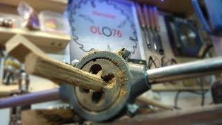 Jak zrobić przyrząd do robienia kołków drewnianych -Drewniane kołki zrobione za pomocą narzynki