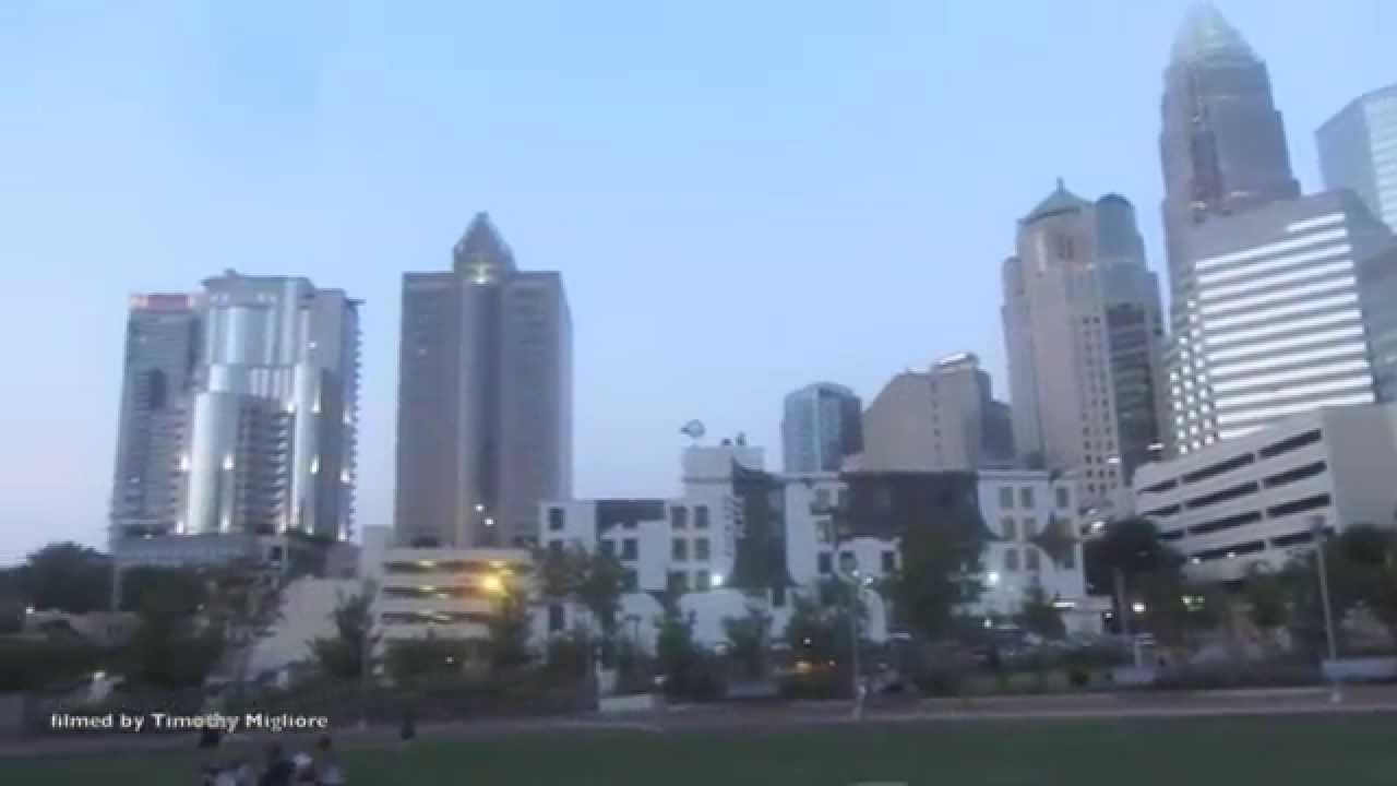 Street Scenes Of Downtown Charlotte Nc Youtube
