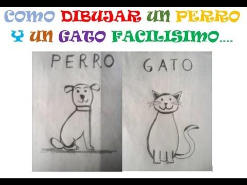 COMO DIBUJAR UN PERRO Y GATO FACILISIMO - YouTube
