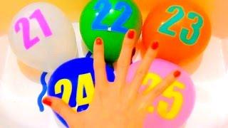 Семья Пальчиков Учим Цифры 21-25 Цвета Лопаем Шарики Finger family Learning Colour Number ChildrenTV