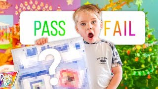 HIS FIRST BIG SCHOOL PROJECT! 😮 (Pass or Fail??)