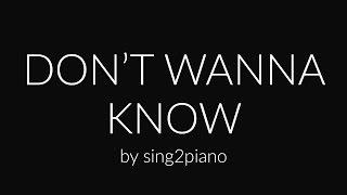Don't Wanna Know (Piano Karaoke Instrumental) Maroon 5 & Kendrick Lamar