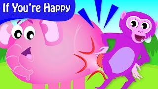 If You're Happy And You Know It | Where Is Looney Baboon's Bum? | by Little Angel