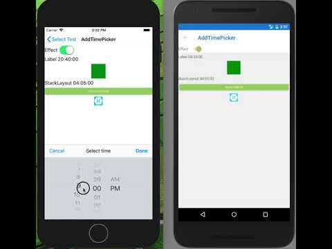 The effect adding TimePicker For Xamarin Forms