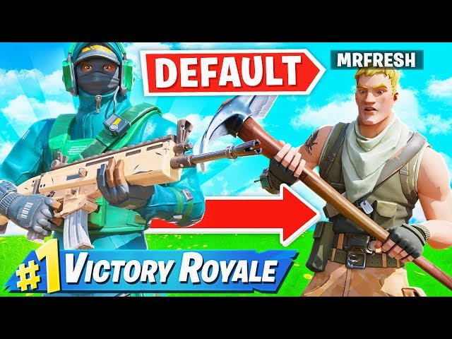 I pretended to be a DEFAULT in Fortnite