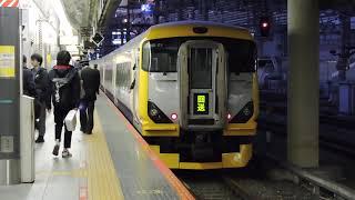 E257系500番台 5両編成 臨時特急 新宿さざなみ2号 新宿駅到着 2020.03.21