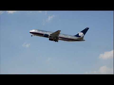 AEROMEXICO B 767 Taking  off from Mexico City