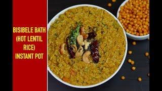 INSTANT POT Bisibelebath|Hot Lentil Rice|Sambar sadam|Easy Rice Recipe
