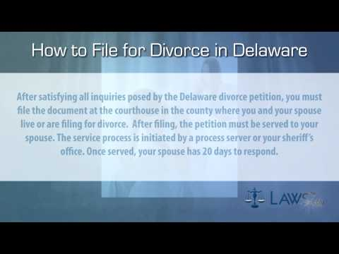 How to file for divorce in Delaware