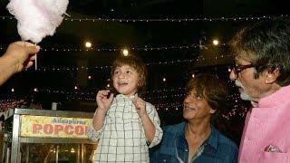 Shahrukh Khan's son AbRam Khan making cute expression when Amitabh Bachchan gets him CandyFloss 😍