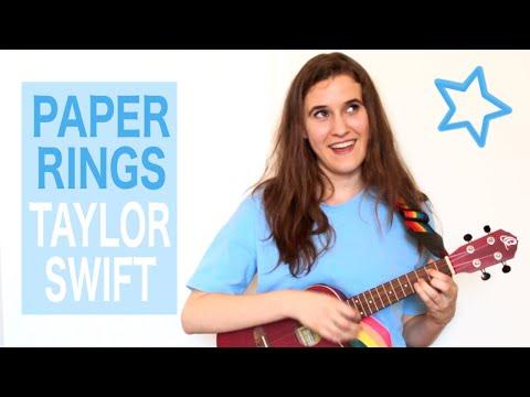 Paper Rings - Taylor Swift (Ukulele Tutorial)