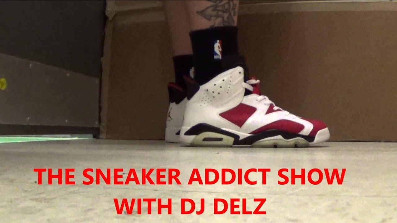 2014 Air Jordan Carmine 6 Retro Sneaker On Foot VS CDP With Dj Delz ... 5cbe7db56