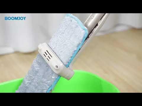 BOOMJOY F2 self clean space save hand free dry floor cleaning squeeze microfiber cleaning mop