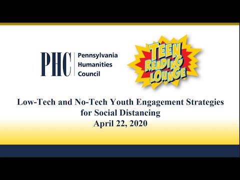 Low-Tech and No-Tech Youth Engagement Strategies for Social Distancing