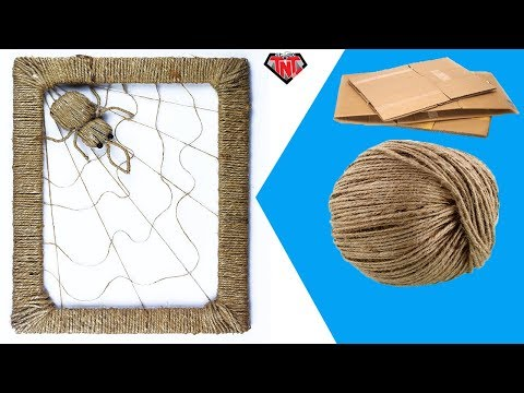 How To Make Woven Spider Web With Jute Easy | DIY SpiderWeb Wall Hanging | Easy Rope Crafts