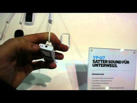 Samsung YP-U7 mp3 Player im Hands-On