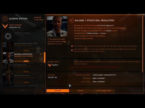 Elite dangerous Salvage 1 Structural Regulators