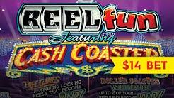 Cash Coaster Slot - $14 Max Bet - Big Win Bonus!