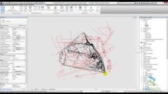 Revit: osazení topografie vytvořené pomocí importu JTSK souřadnic