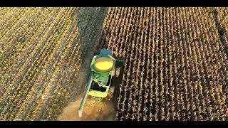 Drone Video of Corn Harvest on Maryland