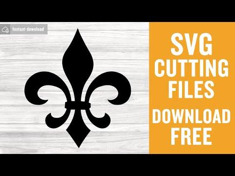 Fleur De Lis Svg Free Cut Files For Silhouette Cameo Instant Download
