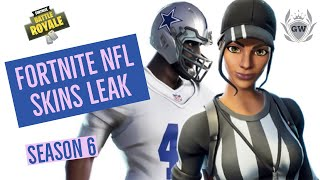 NOUVEAU NFL SKINS LEAK FORTNITE! Fortnite Battle Royale! FORTNITE X NFL!