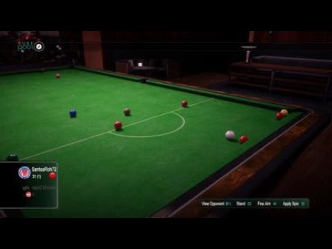 Pure Pool™,Amazing bank shot on red ball to side pocket of the table!!!