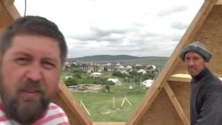 Окно купольного дома, вид из кухни - Купольный дом в Крыму(По требованию мамы пришлось организовывать окно на кухне. И чтобы большое, и чтобы всё видно было. Сказано..., 2015-05-30T15:34:48.000Z)