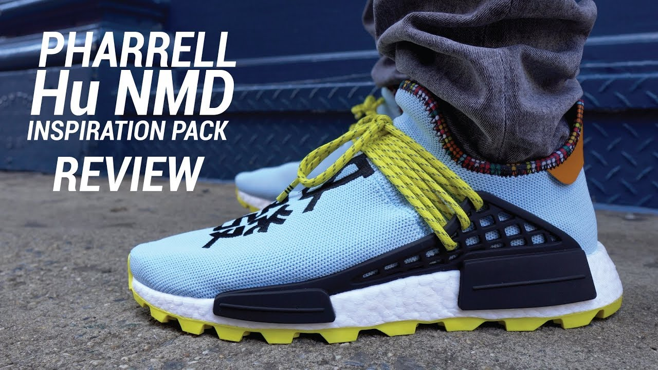 7d5777c18 Adidas Pharrell Hu NMD Clear Sky Inspiration Pack Review   On Feet ...