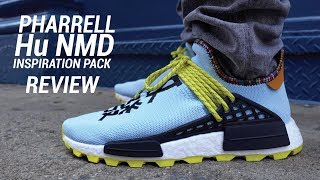Adidas Pharrell Hu NMD Clear Sky Inspiration Pack Review & On Feet