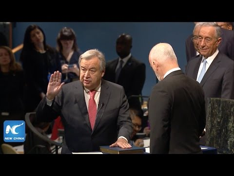 LIVE: UN chief designate Antonio Guterres Takes Oath of Office