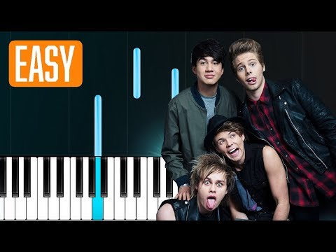 5 Seconds Of Summer  Valentine 100% EASY PIANO TUTORIAL