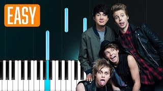 """5 Seconds Of Summer - """"Valentine"""" 100% EASY PIANO TUTORIAL"""