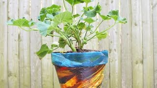 Make A Unique Fabric Covered Flower Pot - Diy Home - Guidecentral