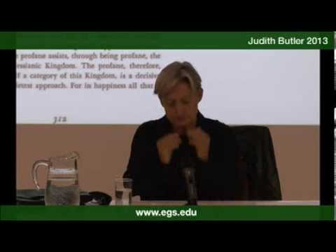 Judith Butler. One time traverses another, Benjamin's Theologico-Political Fragment. 2013.