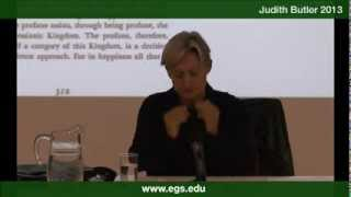 Judith Butler. One time traverses another, Benjamin