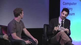 CHM Revolutionaries: Facebook Effect- Author David Kirkpatrick & FB's CEO Mark Zuckerberg