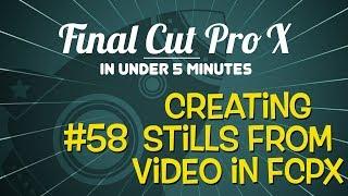 Video Altında 5 Dakika içinde X Pro Final Cut: Oluşturma Fotoğraf