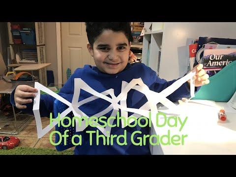 Homeschool Day of a Third Grade