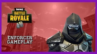 'NEW' Enforcer (Road Trip) Skin Gameplay - Fortnite Battle Royale - AZA