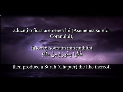Holy Quran Surat Al-Baqarah [2:21-25]! Romanian and English translation! Arabic transliteration!