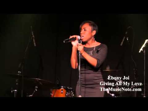 Ebony Joi - Giving All My Love  Live + Interview