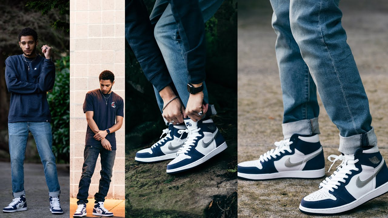How I Style Jordan 1 Midnight Navy Co.JP Review / On Feet (2020)