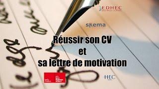 Réussir ses dossiers pour les concours : CV et lettre de motivation, derniers conseils.