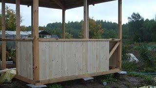 Построить беседку на даче(Как построить беседку. Хотите построить самостоятельно беседку на даче? Посмотрите пошаговый мастер класс...., 2014-08-17T11:29:22.000Z)