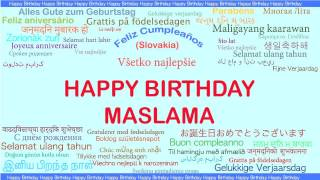 Maslama   Languages Idiomas - Happy Birthday