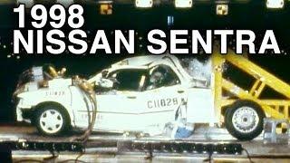 1998 Nissan Sentra | Rear Crash Test (70% Overlap) by NHTSA | CrashNet1